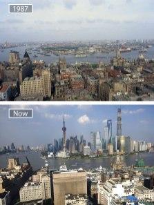 Šanghaj (Kitajska) – leta 1987 in danes