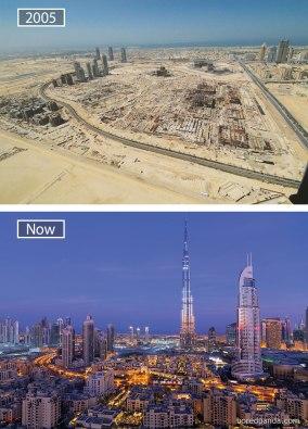 Dubaj (Združeni arabski emirati) – leta 2005 in danes