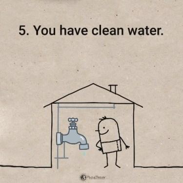 Imate dostop do pitne vode.