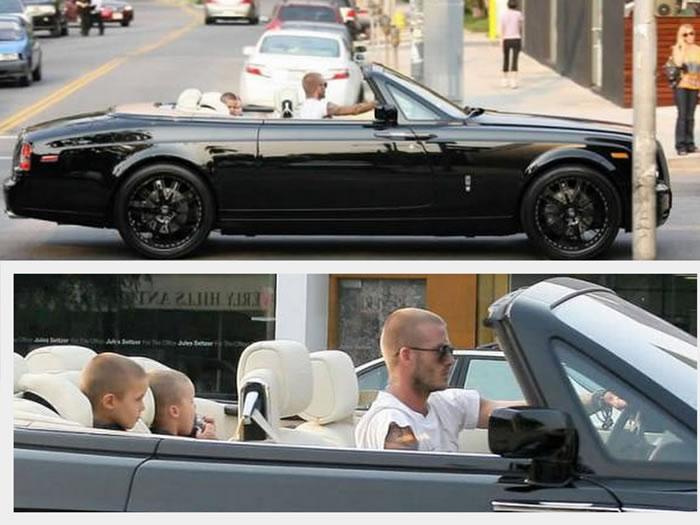 David Beckham – Rolls-Royce Phantom (cena: 407 tisoč ameriških dolarjev)