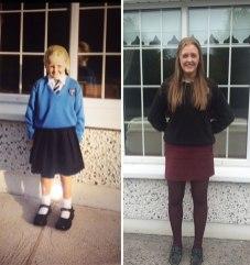 Prvi šolski dan vs. zadnji šolski danPrvi šolski dan vs. zadnji šolski dan