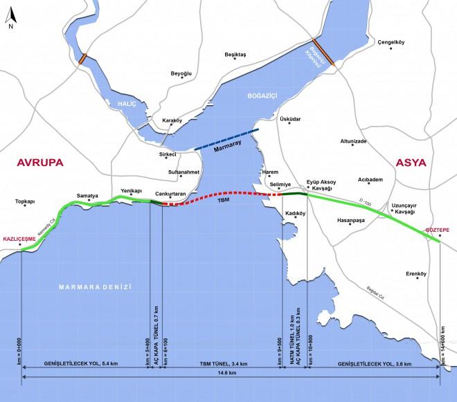 Predor Eurasia bo povezoval evropski in turški del Istanbula.