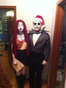 Sally in Jack Skellington