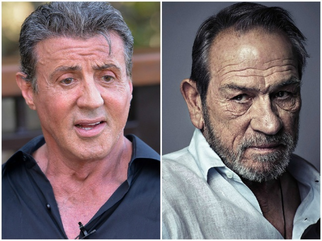 Sylvester Stallone in Tommy Lee Jones, 73 let