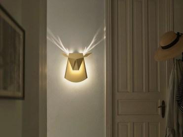 Stenska svetilka z motivom živali