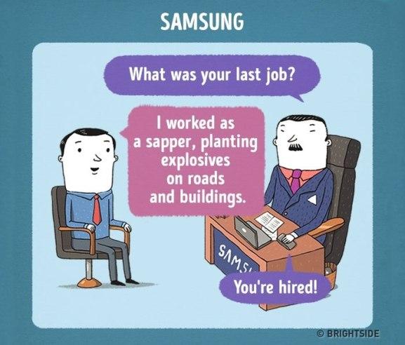 Razgovor za službo pri Samsungu
