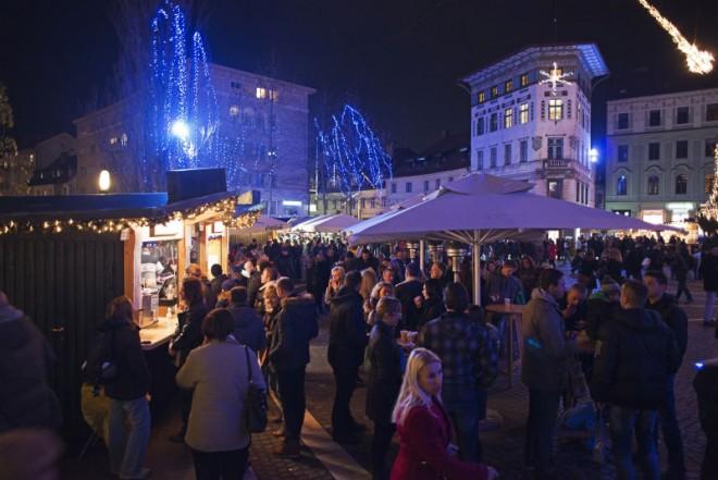 Silvestrovanje na Prešernovem trgu (Foto: Dušan Zidar)