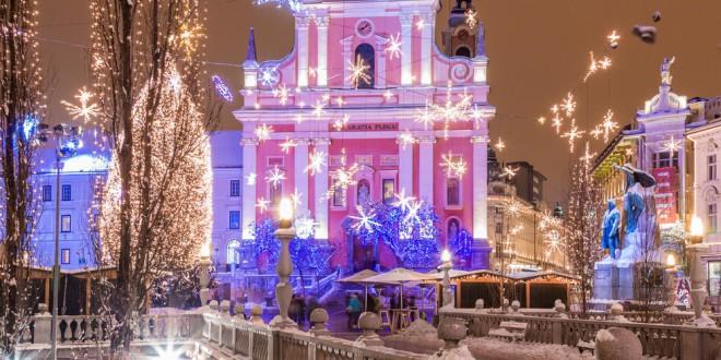 Prižig lučk v Ljubljani (Foto: Shutterstock)