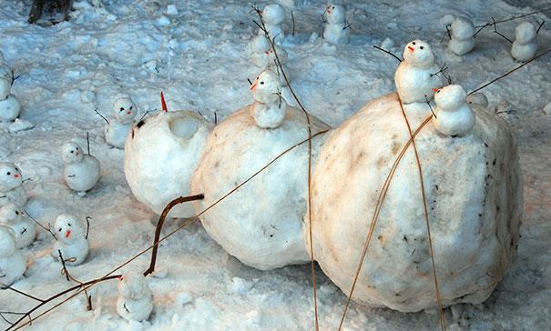Ne zadovoljite se z navadnim snežakom.
