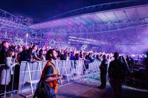 Brez težav sta se prebila tudi v varovano cono na koncertu skupine Coldplay.