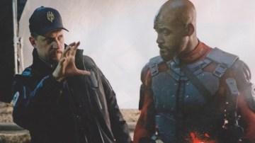 Will Smith in David Ayer med snemanjem filma Odred odpisanih