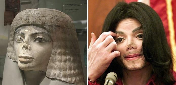Egipčanski kip in Michael Jackson
