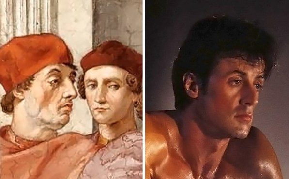 Papež Gregor IX. in Sylvester Stallone