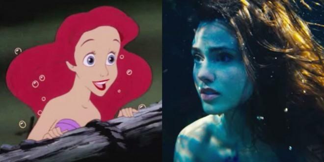 Primerjava Disneyjeve male morske deklice in igrane različice.