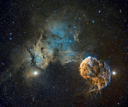 Zvezda IC443 je ostanek supernove, eksplozije izpred 30.000 let.