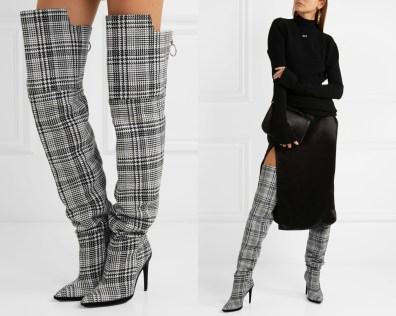 Najlepši škornji čez kolena za jesen in zimo 2017: Off-White