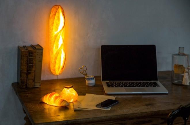 Pampshade so svetilke, ročno narejene iz pravega kruha.
