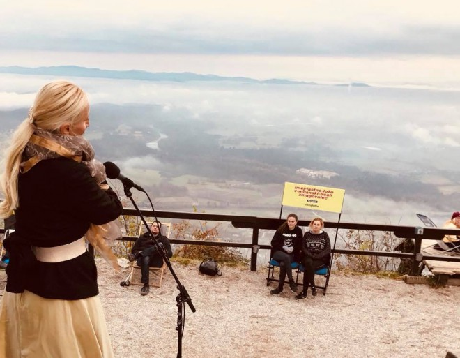Nataša Zupan – na odru z najlepšo scenografijo – Šmarno goro