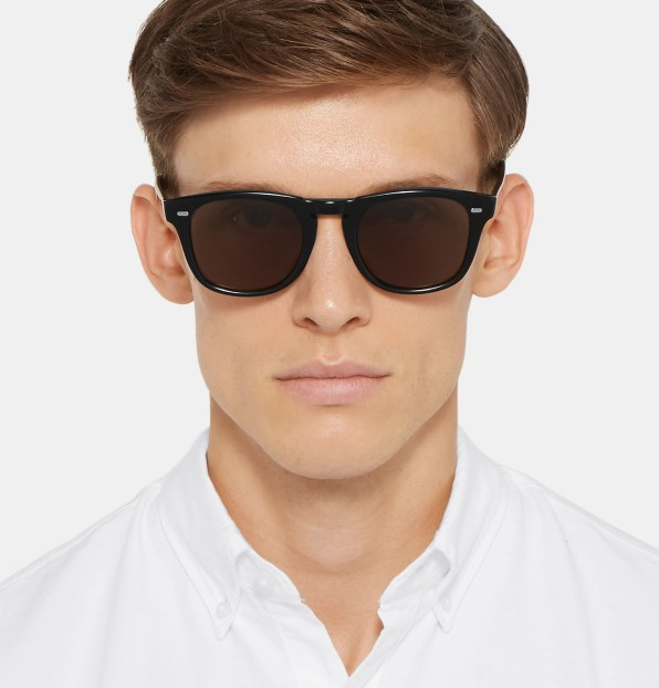 Moška modna sončna očala 2018: sončna očala z okvirji v obliki črke D, Bottega Veneta
