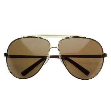Moška modna sončna očala 2018: (pre)velike aviatorke, zeroUV
