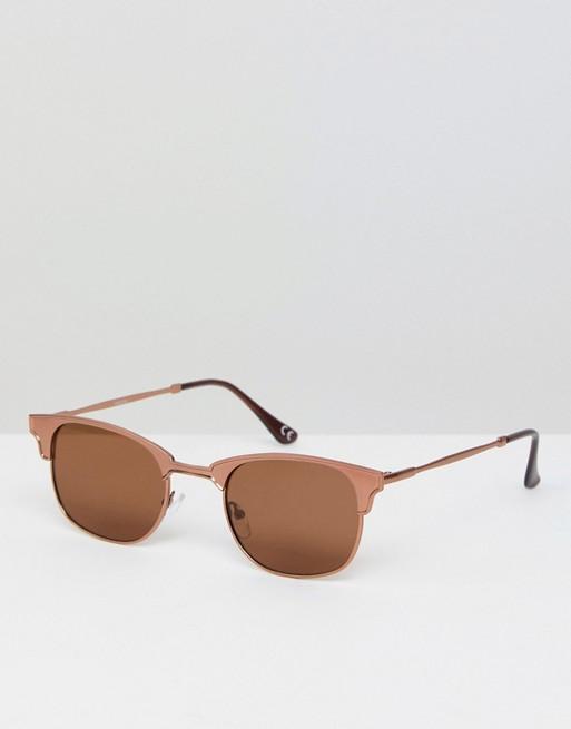 Moška modna sončna očala 2018: poudarjeni, debelejši okvirji na predelu obrvi, Asos