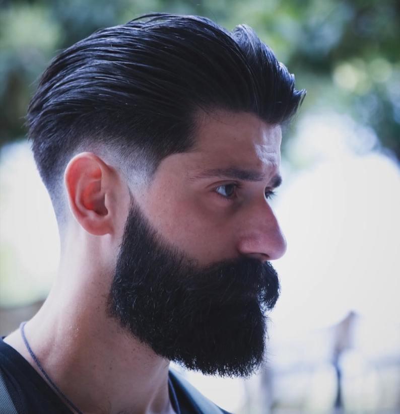 Teksutrirana frizura, 'polizana' nazaj