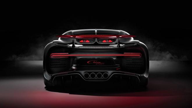 Zadnjica avtomobila Bugatti Chiron Sport