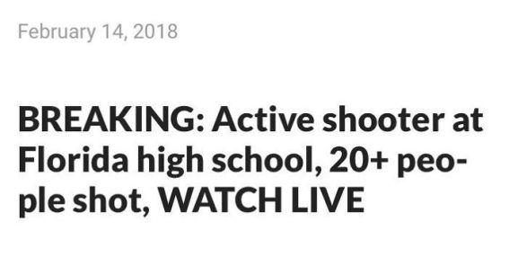 Morilec v srednji šoli. 20 ljudi ustreljenih. GLEJTE VŽIVO