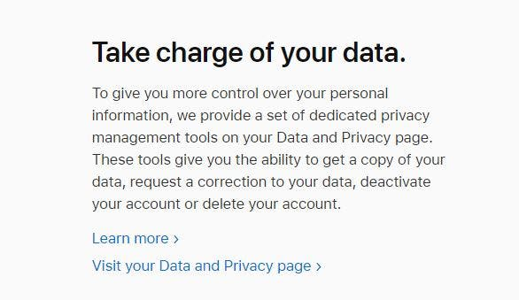 Visit your Data and Privacy page.