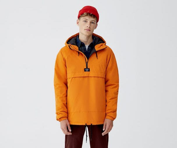 Pull&Bear Hooded Jacket with Pouch Pocket.