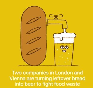 Podjetji v Londonu in na Dunaju uporabljata ostanke kruha za izdelavo piva.