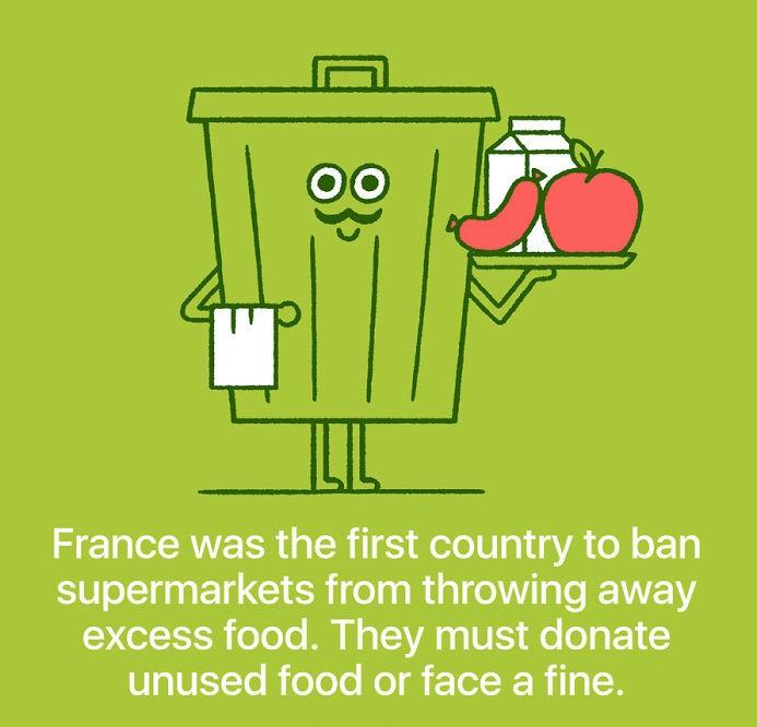 Francija je prepovedala trgovinam z živili, da mečejo odvečno hrano v smeti. Morajo jo donirati ali plačati kazen.