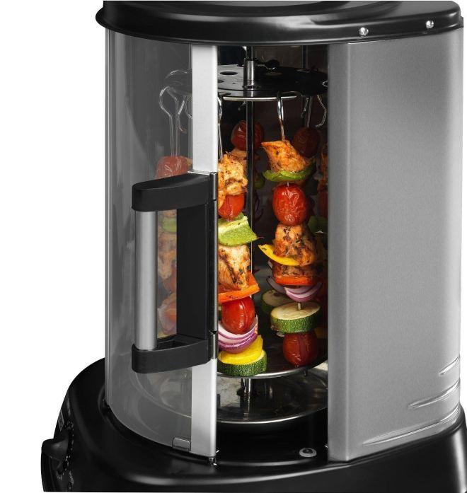 S tem aparatom lahko pripraviš meso ali zelenjavo.