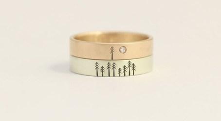 14-karatna zlata prstana za oba, ashhilton; 636.62