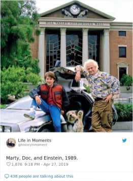 Marty, Doc in Einstein, 1989.