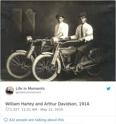 William Harley in Arthur Davidson, 1914.