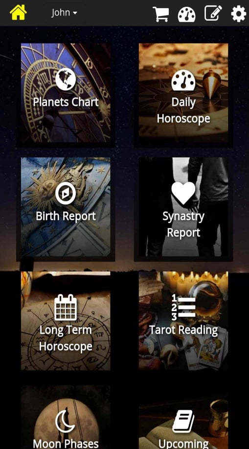 Astromatrix-Horoscopes aplikacija.