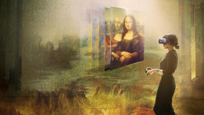 7-minutna izkušnja omogoča, da  slovito Mona Lizo vidimo v povsem drugi luči.