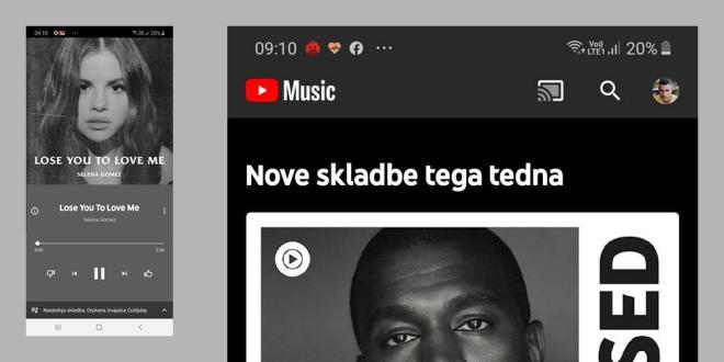 Youtube Music je dosegljiv tudi v Sloveniji!
