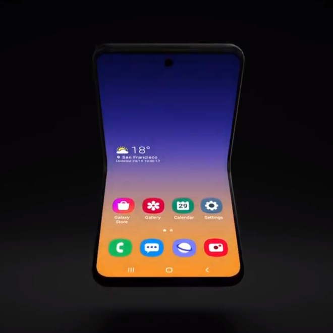 Koncept Samsungovega pametnega telefona