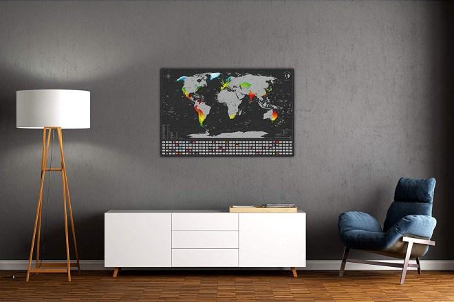 Zemljevid sveta za praskanje