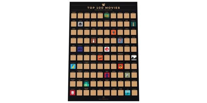 """Poster za praskanje """"100 najboljših filmov"""""""