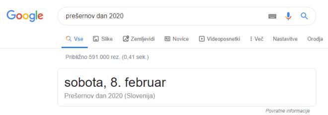 Iskanje datuma praznika