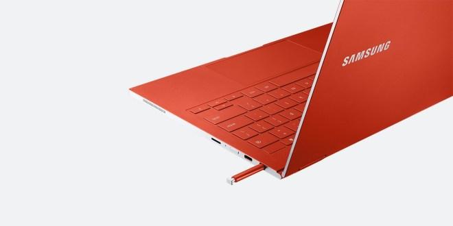 Prenosnik Samsung Galaxy Chromebook ima tudi vgrajeno pisalo