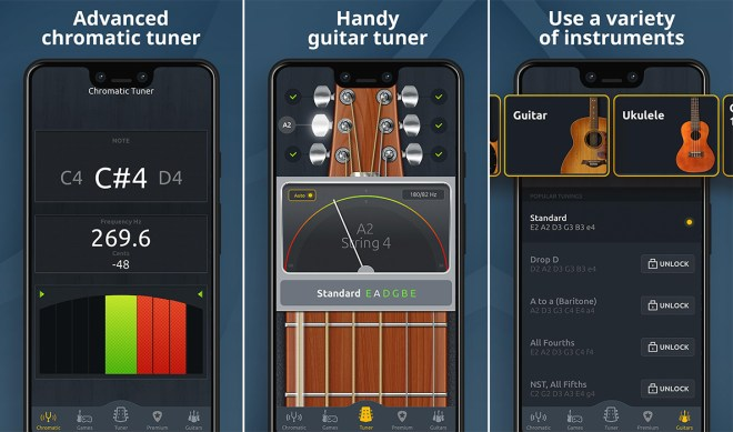 Aplikacija Chromatic Guitar Tuner