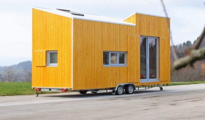 Slovenski proizvajalec mini hišk houzEKO ponuja 3 različne modele.