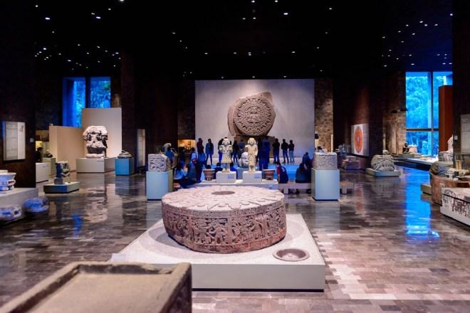 Museo Nacional de Antropología v Ciudad de Méxicu