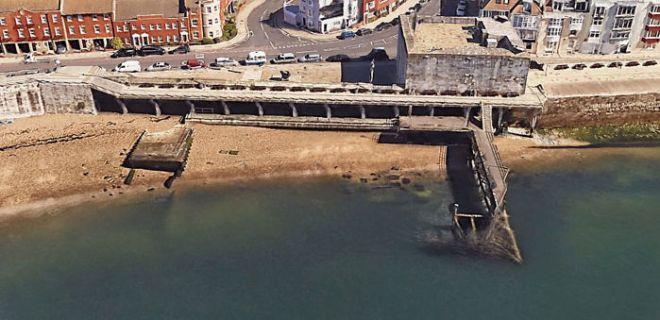 Portsmouth pred karanteno 2020 (Foto: Google Earth)