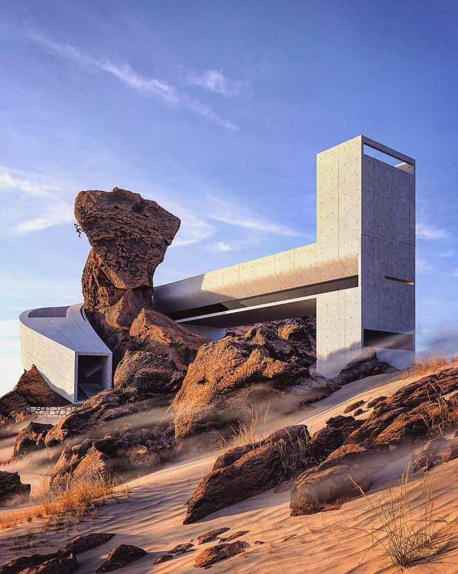 "Hiša v puščavi (""House in the Desert"")"