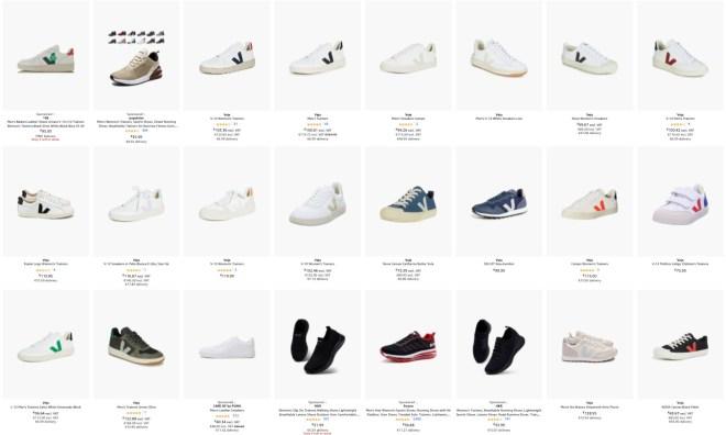 Večino modelov Veja Shoes lahko kupiš na amazon.de in jih prejmeš naslednji dan!
